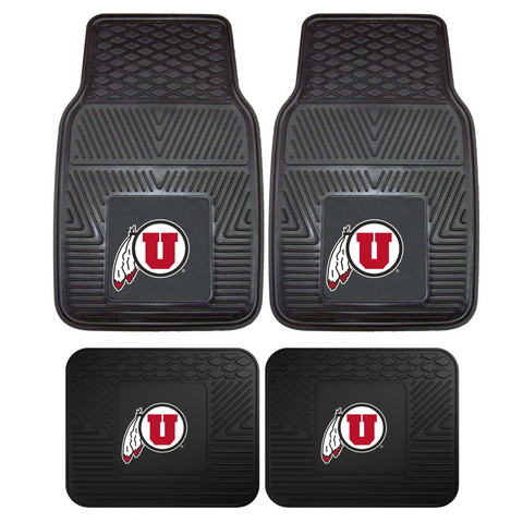 Utah Utes NCAA 4pc Car Mats