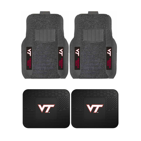 Virginia Tech Front (Vinyl/Carpet) & Rear (Vinyl) Car Floor Mats