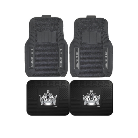 Los Angeles Kings Car Truck Front (Vinyl/Carpet) & Rear (Vinyl) Floor Mats