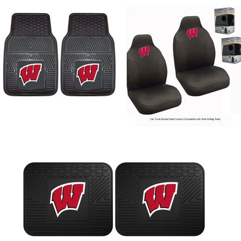 Wisconsin Badgers Car Accessories, Car Mats & Seat Covers