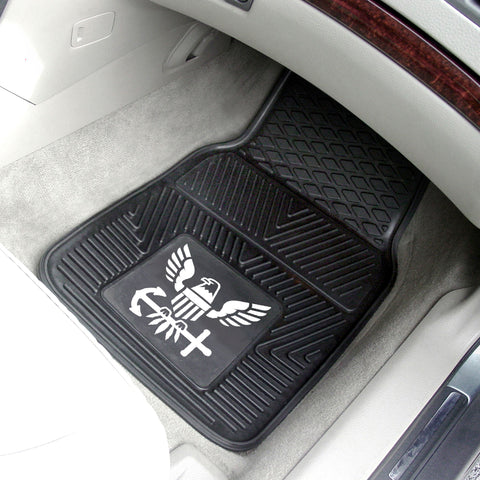 U.S. Navy 2-pc Front Vinyl Car Mats