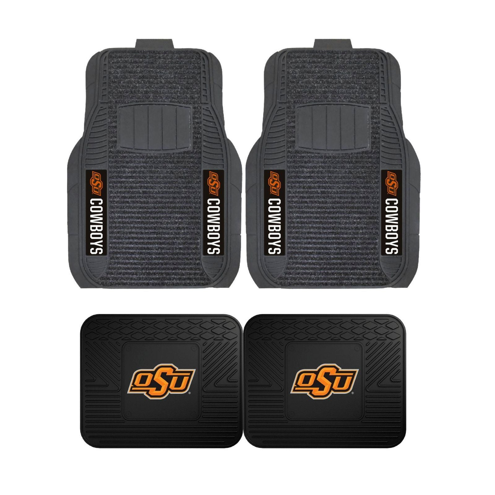 Oklahoma State Front (Vinyl/Carpet) & Rear (Vinyl) Car Floor Mats