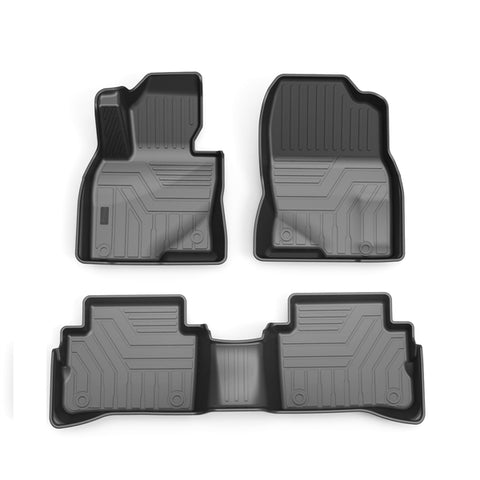 Custom Fit  3D TPE All Weather Car Floor Mats Liners for Mazda CX5 2017-2021 (1st & 2nd Rows, Black)