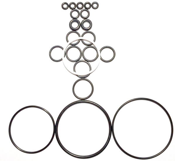 PK5, Silicone 8.645 8-1//4 O-Ring Dash 370 Pack of 2
