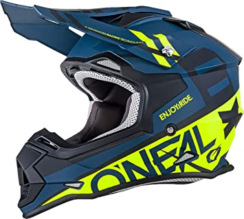 CASCO O'NEAL 2 Series RL SLICK BLUE NAVY/HI-VIZ