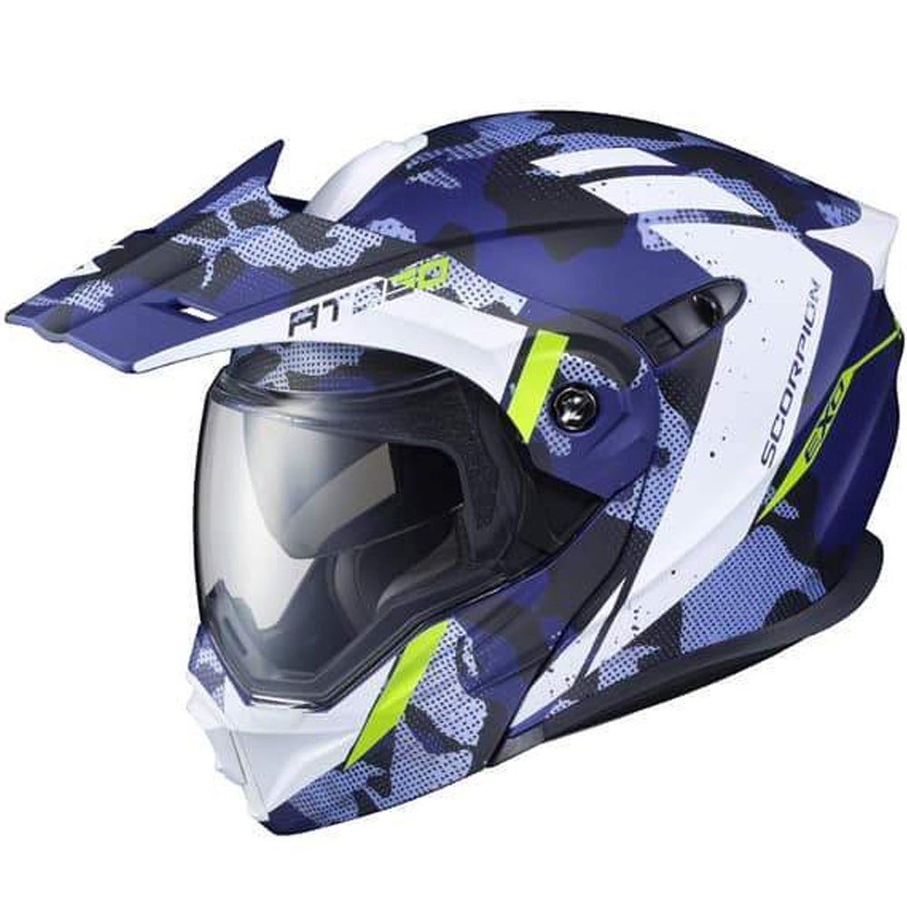 CASCO SCORPION EXO-AT950 OUTRIGGER AZUL MATE