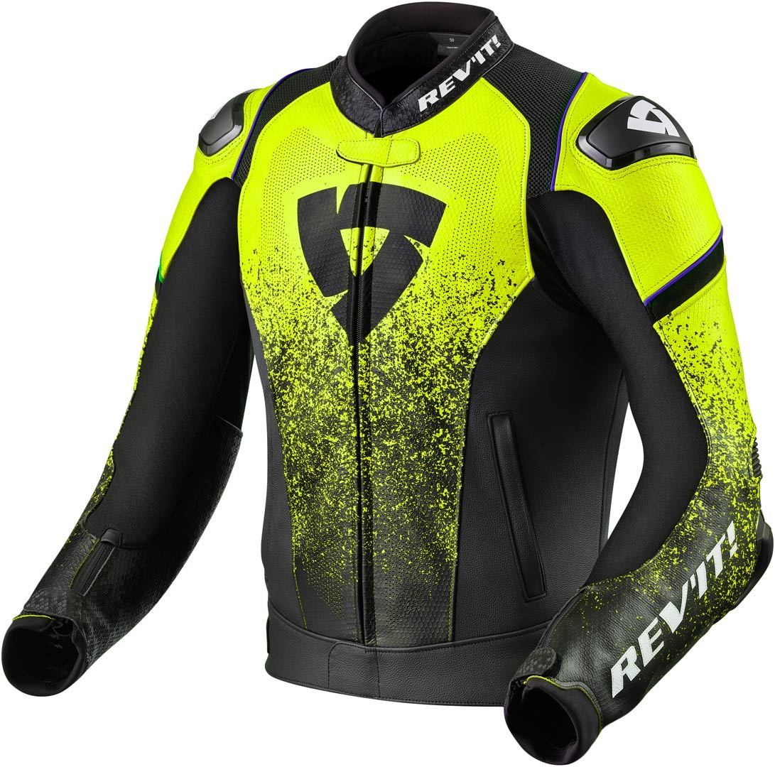CHAMARRA REVIT QUANTUM AIR BLACK NEON YELLOW