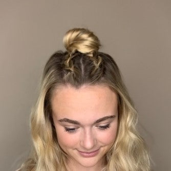 How-to Up-do: Half-up Double Braid Bun using Betty Pins