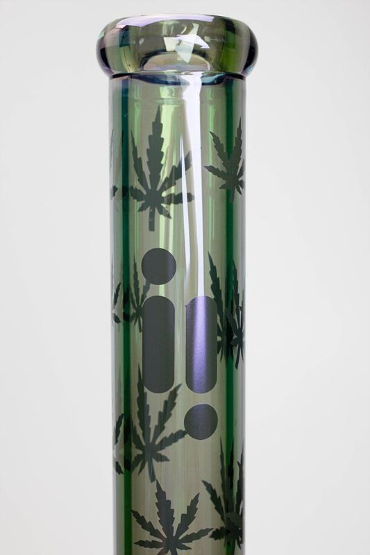 "18"" Infyniti Metallic Leaf Glass Bong"