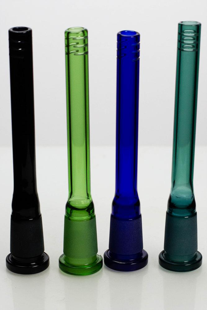 Color-Glass open ended 6 slits downstem