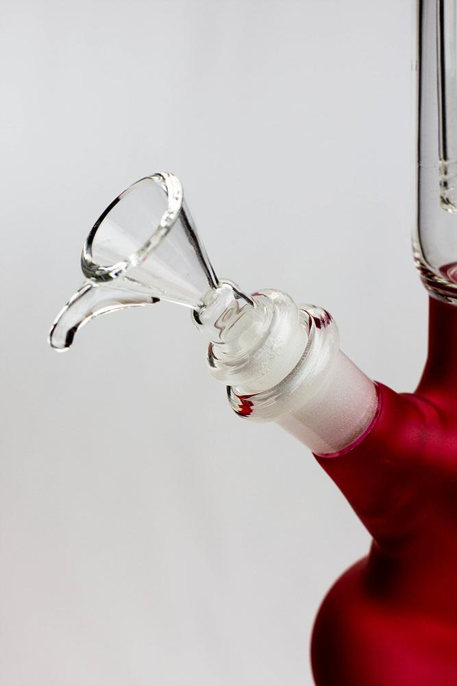 "12"" Infyniti 4-Arm Percolator Round Glass Beaker Bong"