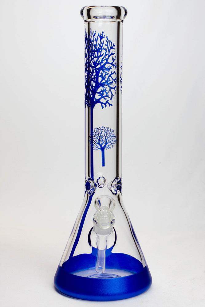 "15.5"" Tree of Life Glass Beaker Bong"