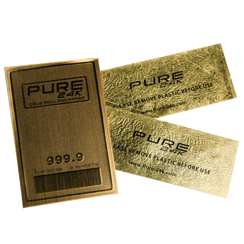 Pure 24K Gold Rolling Paper - Individual Pack