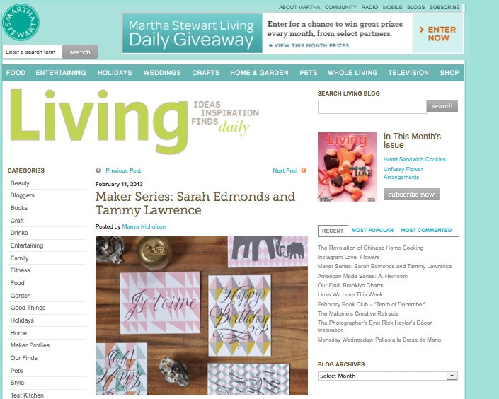 Martha Stewart Living Blog
