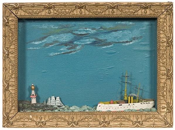 and a nautical shadowbox