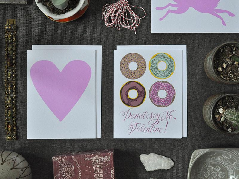 Note Card for Valentine's Day - Donut Say No, Valentine!