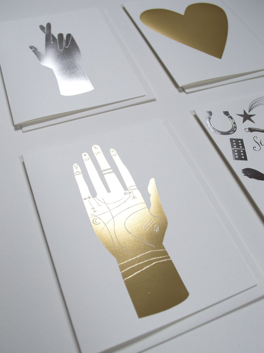 Palmistry Hand Gold - gold foil greeting card