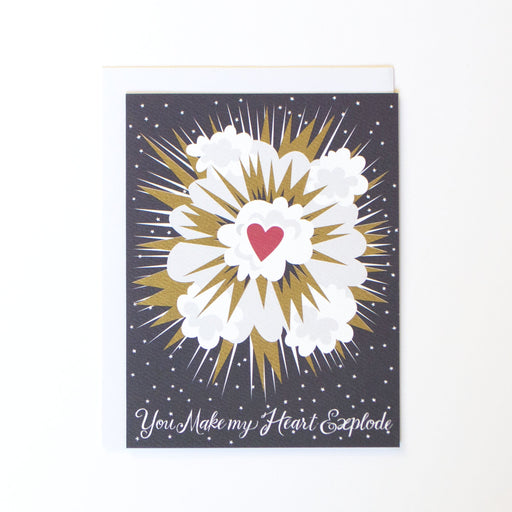 Heart Explosion Note Card