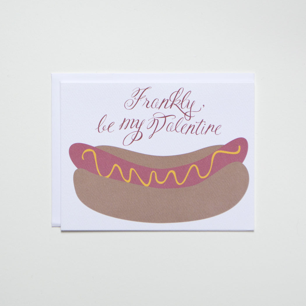 Hot Dog Note Card for Valentine's Day