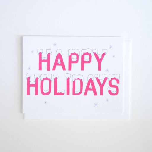 Icy Happy Holidays Note Card