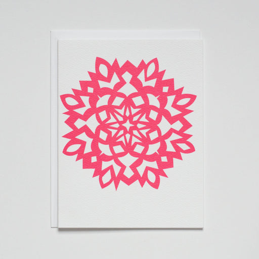 Holiday SnowFlake Cut Out  Note Card