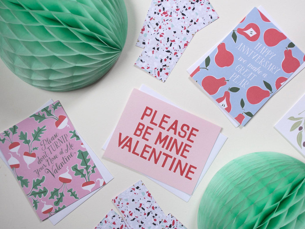 Please Don't Turnip Your Nose Valentine - Valentine's Day Note Card