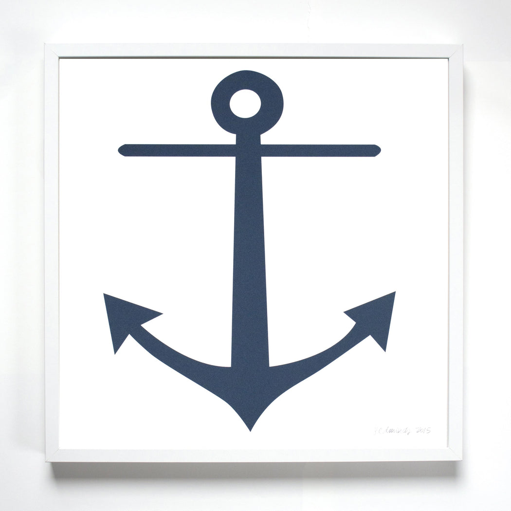 Art Print - Anchor - Navy Blue for the Sailor at Heart