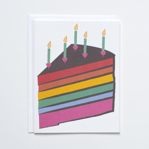 Rainbow Cake Note Card