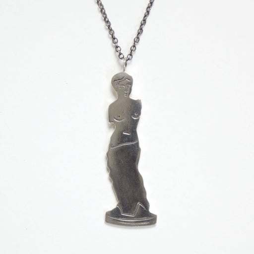 Silver Venus de Milo Pendant and Chain