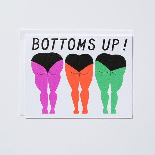 Bottoms Up Note Card for Good Cheer and Congratulations!