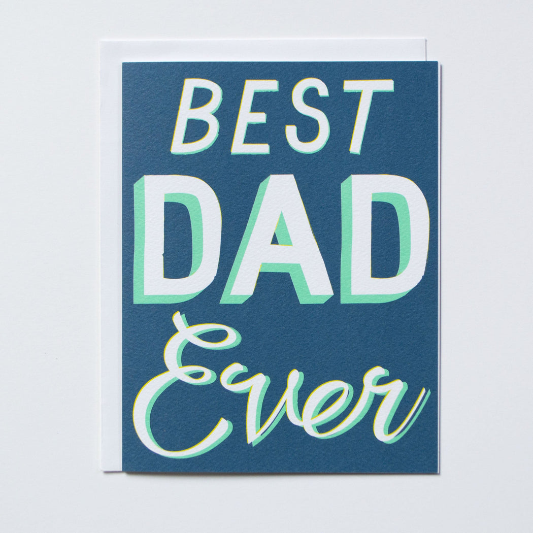 Best Dad Ever Note Card