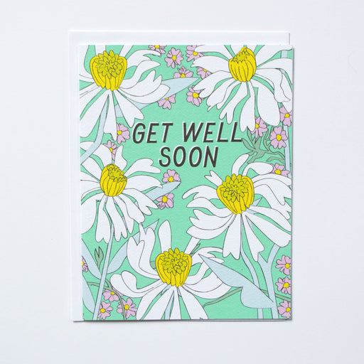 Get Well Soon Daisies Note Card
