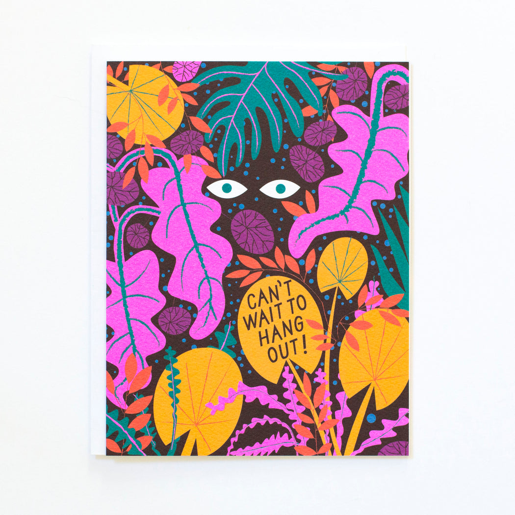 Can't Wait to Hangout! -Jungle Scene - Note Card