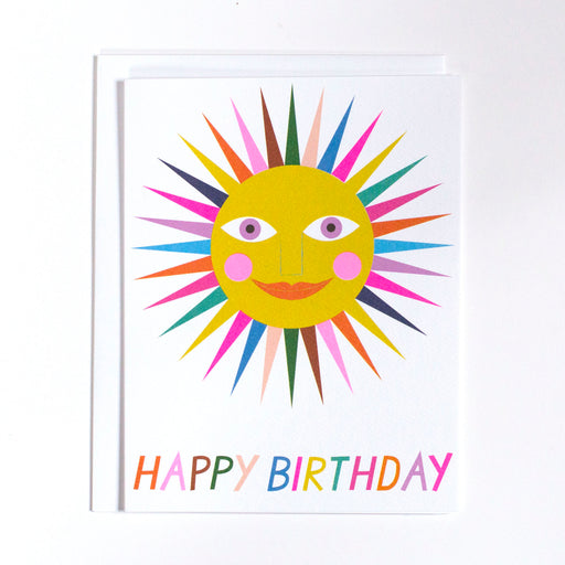 sunshine, sun card, rainbow, birthday card, happy birthday