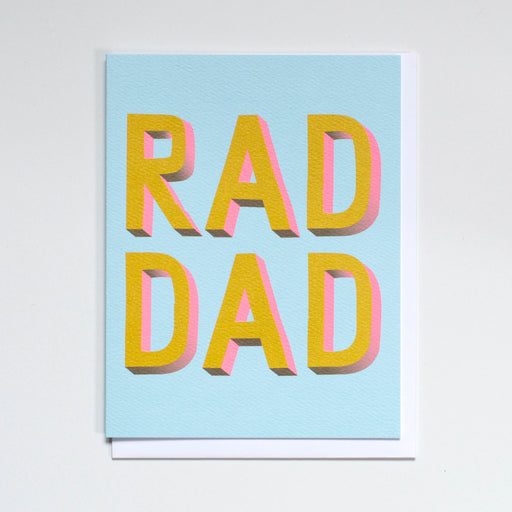 Rad dad Too Note Card