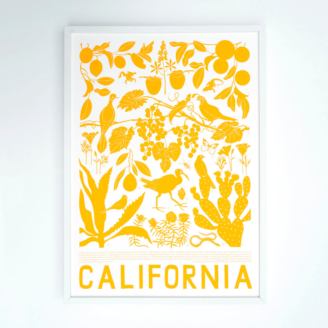 Marigold yellow California Art Print