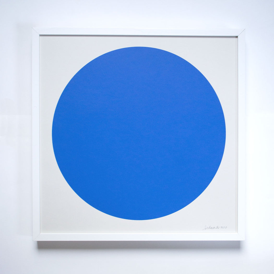 The Cobalt Blue Sun Screenprint