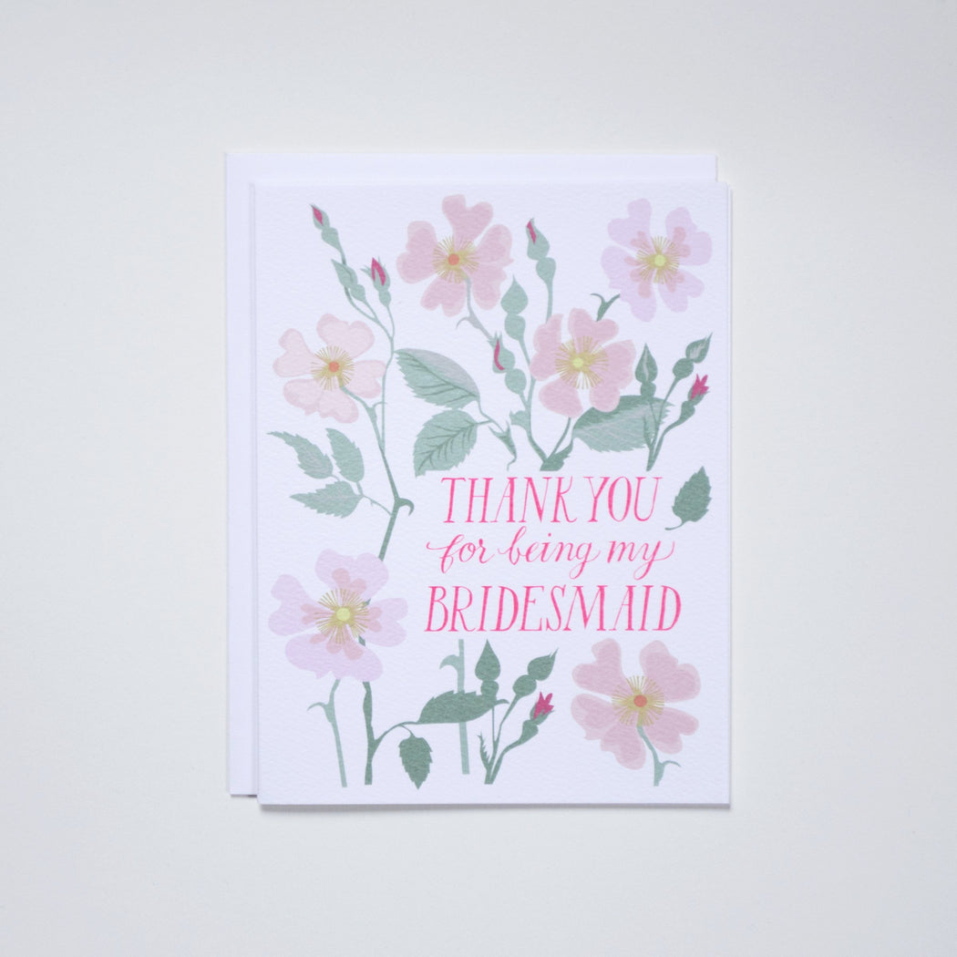 Thank You for Being My Bridesmaid - Note Card