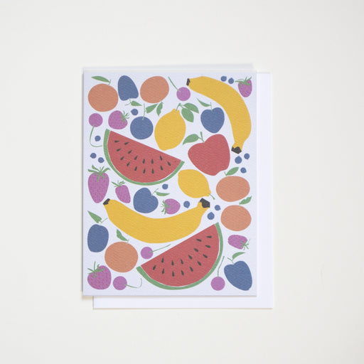Fruits Note Card - Banana, Lemon, Clementine, etc.