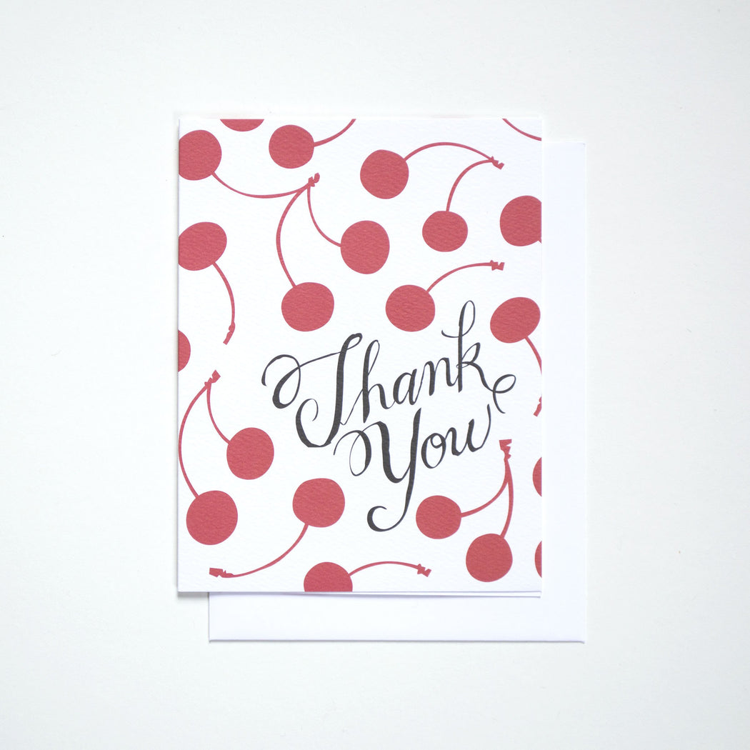Thank You Cherries Note Card