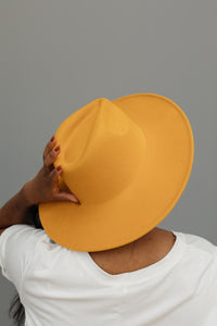 Felicity Flat Brim Hat In Honey