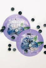 Load image into Gallery viewer, Home For The Holidays Face Mask in Blueberry