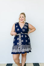 Load image into Gallery viewer, Triple Threat Mini Dress In Navy