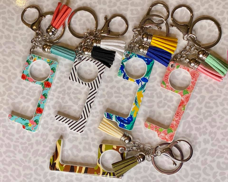 Tassel Keychain with Hands Free Device (Multiple colors available)