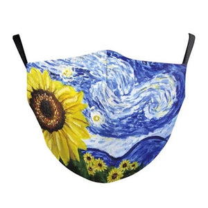 SUNFLOWER DAYS FASHION FACE MASK WITH FILTER POCKET