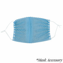 Load image into Gallery viewer, Rhinestone Mesh Face Mask Cover - Blue