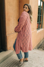Load image into Gallery viewer, Choose Me Chunky Cardigan in Rose