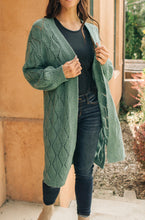 Load image into Gallery viewer, Choose Me Chunky Cardigan in Sea Green