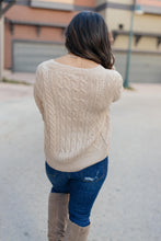 Load image into Gallery viewer, Cozy Cropped Sweater in Oatmeal