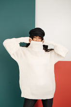 Load image into Gallery viewer, Cream Colored Classic Knit Sweater